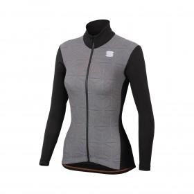 Sportful crystal thermo veste de cyclisme femme noir blanc