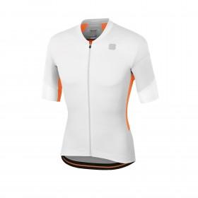 Sportful gts maillot de cyclisme manches courtes blanc alaska gris orange sdr