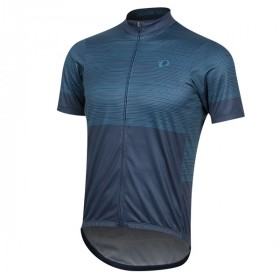 Pearl Izumi select ltd maillot de cyclisme manches courtes navy bleu teal stripe