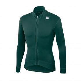 Sportful monocrom thermal maillot de cyclisme à manches longues sea moss vert