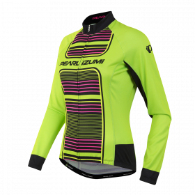 PEARL IZUMI Elite Thermal LTD Lady Jersey LS Screaming green