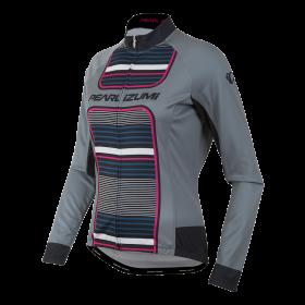 PEARL IZUMI Elite Thermal LTD Lady Jersey LS pink glo stripe