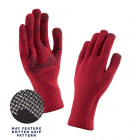 Sealskinz ultra grip gant de cyclisme rouge noir