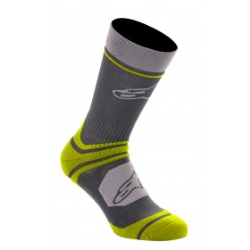 Alpinestars cascade chaussettes de cyclisme noir acid jaune