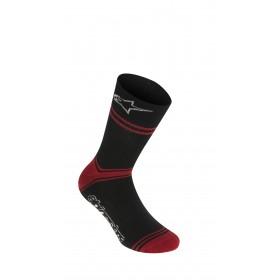 Alpinestars summer chaussettes de cyclisme noir rouge