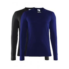 Craft active vêtement manches longues noir et maritime bleu 2-pack