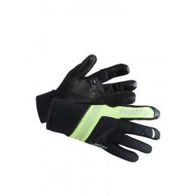 Craft shelter gant de cyclisme noir jaune