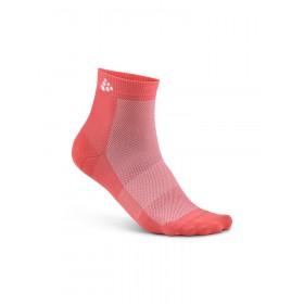 Craft cool mid chaussettes de cyclisme dahlia rose (2-pack)