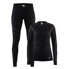 Craft baselayer set femmes noir / granit