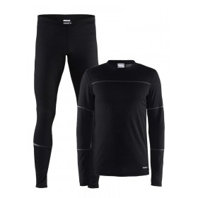 Craft baselayer set hommes noir / granit
