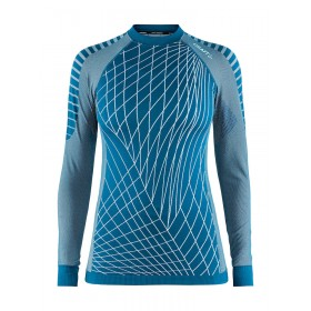 Craft active intensity CN sous-vêtement manches longues femme fjord bleu