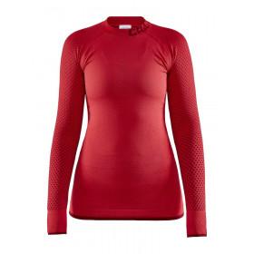 Craft warm intensity cn sous-vêtement à manches longues femme beam rhubarb rouge