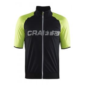 Craft shield 2 maillot de cyclisme manches courtes noir jaune