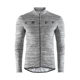 Craft reel thermal maillot de cyclisme manches longues foncé gris melange noir