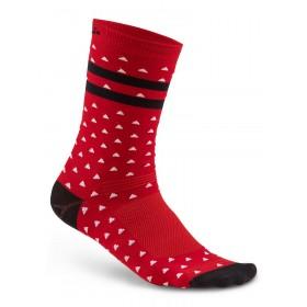Craft pattern chaussettes rouge noir