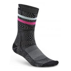 Craft pattern chaussettes noir blanc