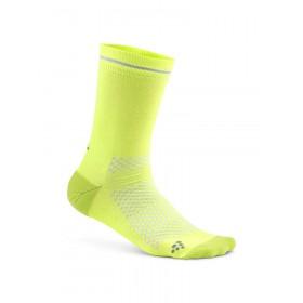 Craft visible chaussettes snap jaune argent