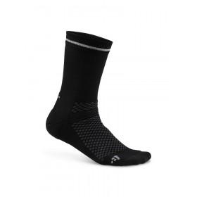 Craft visible chaussettes noir argent