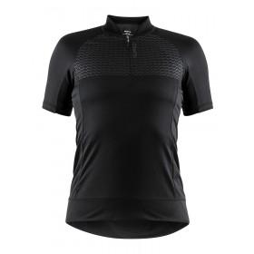 Craft rise maillot de cyclisme femme manches courtes noir