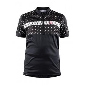 Craft junior maillot de cyclisme manches courtes noir blanc