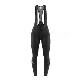 Craft ideal thermal cuissard de cyclisme long à bretelles femme noir (999999)