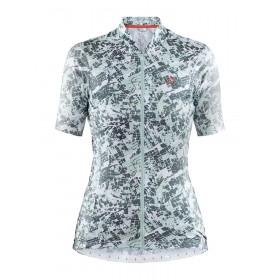Craft hale graphic maillot de cyclisme manches courtes femme plexi graphity vert blanc