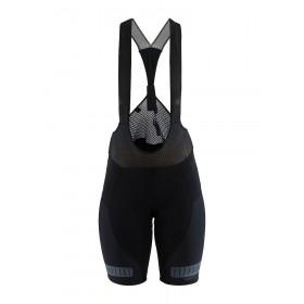 Craft hale glow cuissard de cyclisme courtes à bretelles femme noir