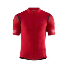Craft hale glow maillot de cyclisme manches courtes canyon rouge noir