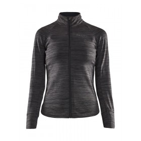 Craft ideal thermal maillot de cyclisme à manches longues femme noir melange