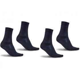 Craft wool liner chaussettes de cyclisme noir burst 2-pack