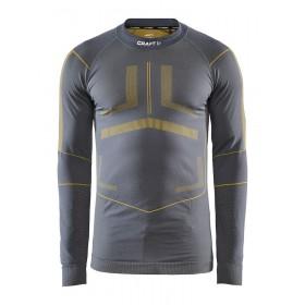Craft active intensity cn sous-vêtement à manches longues asphalt gris buzz