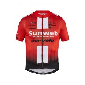 Craft team Sunweb replica maillot de cyclisme à manches courtes sunweb rouge