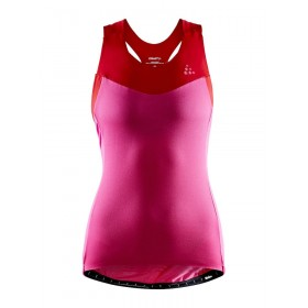 Craft Stride Singlet Lady  - Fame/Bright Red