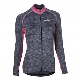 Nalini nunki maillot de cyclisme femme manches longues gris rose