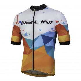 Nalini discesa maillot de cyclisme manches courtes blanc bleu orange