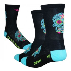 Defeet aireator high-top sugarskull chaussetes cycliste noir neptune