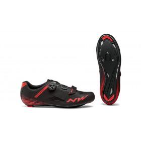 Northwave core plus chaussures race noir rouge