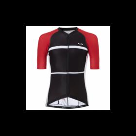 Oakley colorblock road maillot de cyclisme manches courtes noir rouge