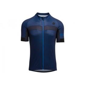 Agu essential melange maillot de cyclisme manches courtes deep bleu