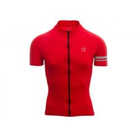 Agu essential maillot de cyclisme manches courtes true rouge