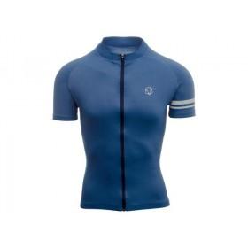 Agu essential maillot de cyclisme manches courtes rebel bleu