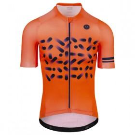 AGU spread maillot de cyclisme à manches courtes fluo orange