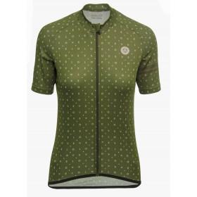 Agu velo love maillot de cyclisme manches courtes femme olive vert