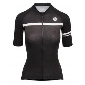 Agu essential blend maillot de cyclisme manches courtes femme iron melange gris