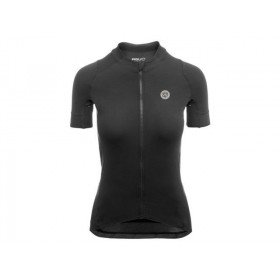 Agu premium femme maillot de cyclisme manches courtes noir