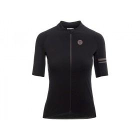 Agu premium woven femme maillot de cyclisme manches courtes noir