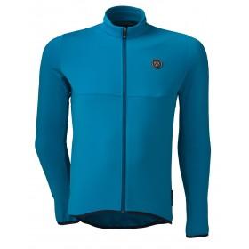 Agu essential thermo maillot de cyclisme manches longues bleu