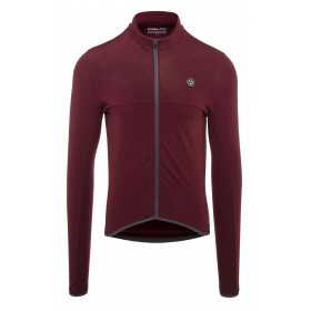 Agu essential thermo maillot de cyclisme manches longues windsor wine rouge