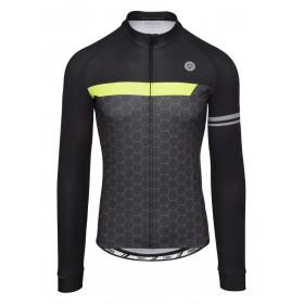 Agu essential wire maillot de cyclisme manches longues iron gris