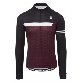 Agu essential wire maillot de cyclisme manches longues windsor wine rouge